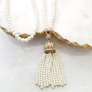 Jewelry - Pearl beaded long necklace